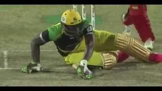Shahid Afridi unblieve able bowling !!! Yorker To Andre Russel at 125kph