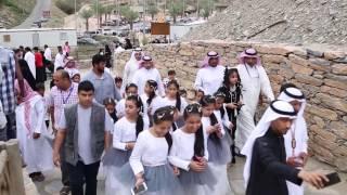 قناة اطفال ومواهب الفضائية تقرير زيارة قرية ذي عين الاثرية