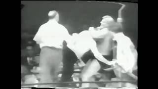 The Original Sheik Reggie Crusher Lisowski vs Rocky Ski Hi Lee Rudy Kay 1950's wild wrestling