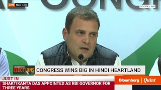 #Results2018: Rahul Gandhi Celebrates Congress Victory In Rajasthan, Chhattisgarh #BQ