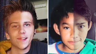 YouTubers famosos antes y después