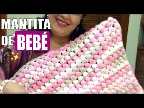 TEJE MANTITA LILI para bebé en crochet fácil y rápido Yo Tejo con LAURA CEPEDA
