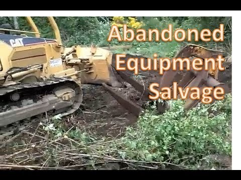 Retrieving abandoned logging equipment from the woods
