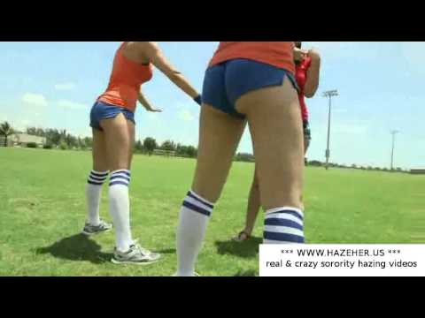 Girls hazing during physical lesson sexy girls workout