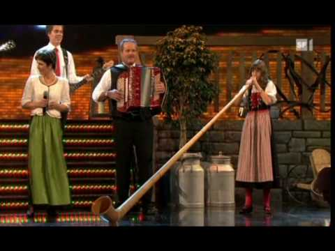 Melanie Oesch yodels Lisa Stoll plays the Alpine Horn great medley of songs.