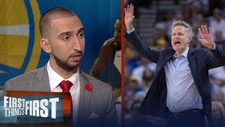 Steve Kerr coached the Warriors first game of the 2017-18 season like practice | FIRST THINGS FIRST