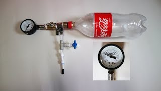 Soda Bottle Air Tank (How to connect the pipe fitting to the bottle cap)