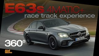 Mercedes-AMG E 63 S 4MATIC+ on the race track! (360° Video, German)