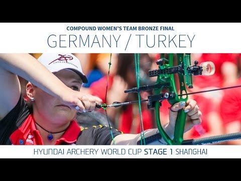 Turkey v Germany – Compound Women s Team Bronze Final Shanghai 2016