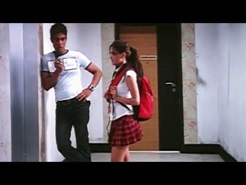 Riya Sen Thigh Show In School Dress || Ayanaki Aaiduguru Movie || Riya Sen, Sadha, Randeep
