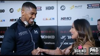 ANTHONY JOSHUA BELIEVES HE CAN SURPASS FLOYD MAYWEATHER; RESPONDS TO FURY'S BUMCITY TWEETS