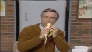 Mr. Rogers Eating a Banana with Cheese