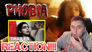 HINDI HORROR!!| Phobia official trailer REACTION!!