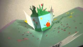 Maria Birthday 3D Popup Card Vase bouquet