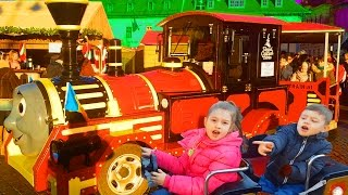 Download Outdoor playgrounds fun for kids with cars, trains, carousel.  Video from KIDS TOYS CHANNEL 3Gp Mp4