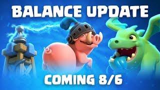 Clash Royale: Balance Update Live! (8/6)