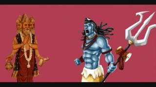 The Battle between lord Brahma and Lord Vishnu