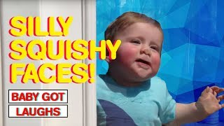 45 Squishy Faced Babies   Funny and Cute Baby Compilation