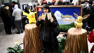 Pokémon Let's Go, Pikachu! and Pokémon Let's Go, Eevee! Midnight Launch Event at Nintendo NY