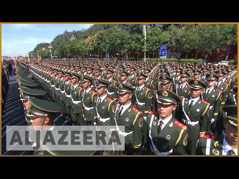 watch Chinese military veterans protest in Beijing