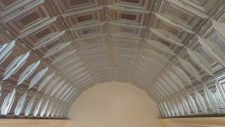 Pressed Plate Tin, Metal Ceiling Installation On A Barrel Entry Way: How To Install