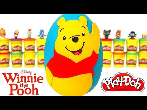 Huevo Sorpresa Gigante de Winnie the Pooh en Español de Plastilina Play Doh