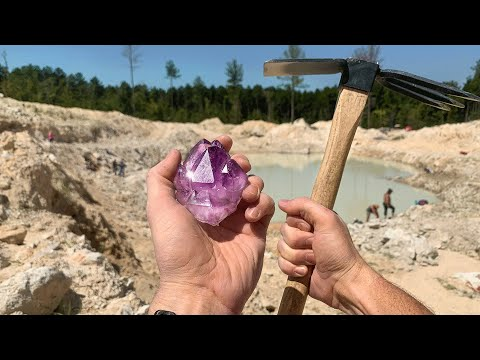 Found Rare Amethyst Crystal While Digging at a Private Mine Unbelievable Find