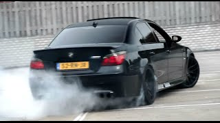 TUNED BMW M5 E60 - CRAZY BURNOUTS & Accelerations!!