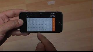 Iphone 4 4S astuce: le mode calculatrice scientifique