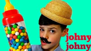 JOHNY JOHNY Yes Papa Song - Simple Songs For Children LEARN COLORS Gumballs