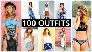 100 Outfit Ideas | Evolution of Fashion Over 3 Years!