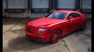 Mansory Chrome Red  Rolls Royce Wraith on 24