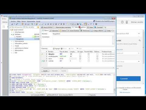 Crear BD e Insertar Datos en MySQL con HeidiSQL