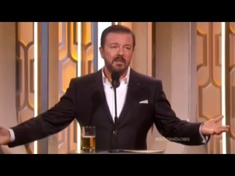 Ricky Gervais Hosting Golden Globes 2016 All his funny bits and monologue edited together