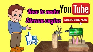 How to Make Steam Power Generator - a cool science project with easy way || Made by 👑 KT ||