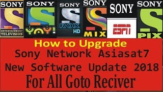 Sony Network New Software Update Full Toturial For all goto reciver with Proof