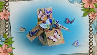 DIY - POP UP BOX CARD - TUTORIAL / HOW TO MAKE A POP UP CARD / DIY CARDS