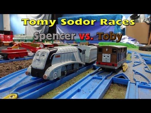Tomy Sodor Races Spencer vs Toby Race 6