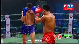 រឿង សោភ័ណ្ឌ Vs ហាសសាន, Roeung Sophorn, Cambodia Vs Hassan, Iran, Khmer Boxing 3 November 2018