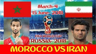 Morocco vs Iran Starting lineup World Cup 2018 Russia.