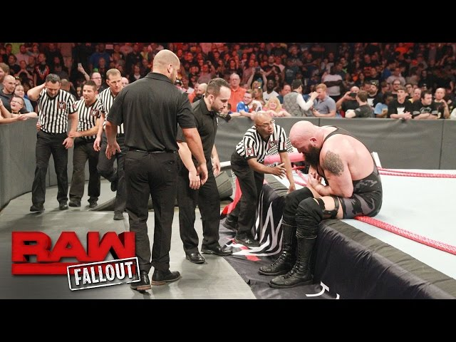 Big Show exits the arena following the destructive conclusion of Raw: Raw Fallout, April 17, 2017