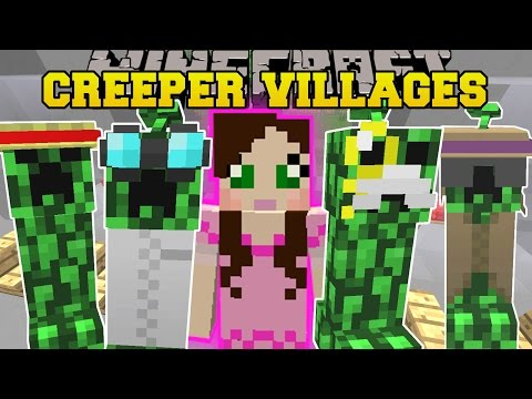 Minecraft CREEPER VILLAGES MORE VILLAGERS GROW CREEPERS & STRUCTURES Mod Showcase
