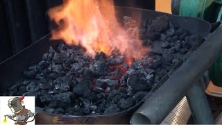 building a coal forge from a propane tank