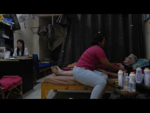 Pattaya,Thailand,Massage,Retired Grandpa gets used to Massages