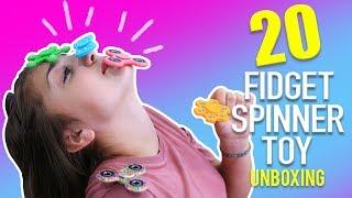 HUGE 20 FIDGET SPINNER TOY UNBOXING!!!