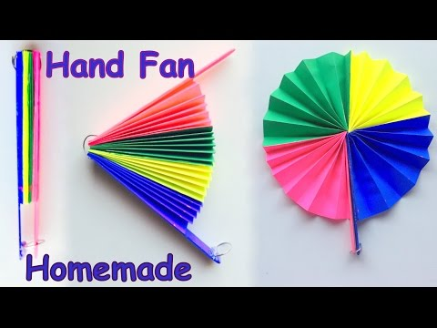 DIY - Homemade paper Hand Fan / Best out of Waste / Kids craft idea.