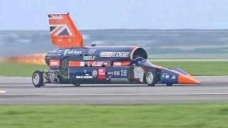 World's Fastest Car – 1,000mph Bloodhound SSC – First Public Runs