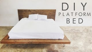 DIY Modern Platform Bed   Modern Builds EP. 47