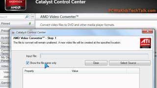 AMD Video Converter Tutorial