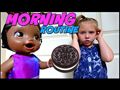 BABY ALIVE does her MORNING ROUTINE The Lilly and Mommy Show. The TOYTASTIC Sisters. FUNNY SKIT